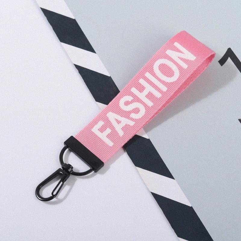 MODA Cartas Llavero de la manera creativa de 9 colores de la cinta colgante teléfono móvil dominante del coche del bolso de la cadena ligera tendencia regalo de la joyería de DHL uOKz #