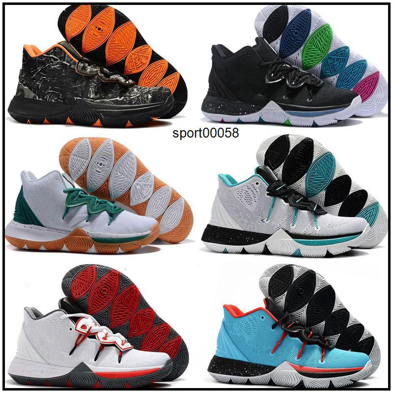 2020 Kyrie Taco Black Magic Sky estrela Mens crianças de basquete Sapatos Chaussures 5s 5 Men Black Rainbow Sneakers Branco Sports