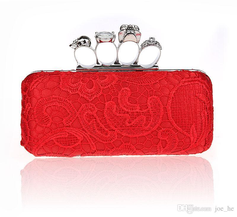 결혼식 HQB1716을위한 파티 날 클러치 너클 박스형 클러치 가방 크리스탈 클러치 Cvening 가방 디자이너 - 여성 핸드백 숙녀 저녁 가방