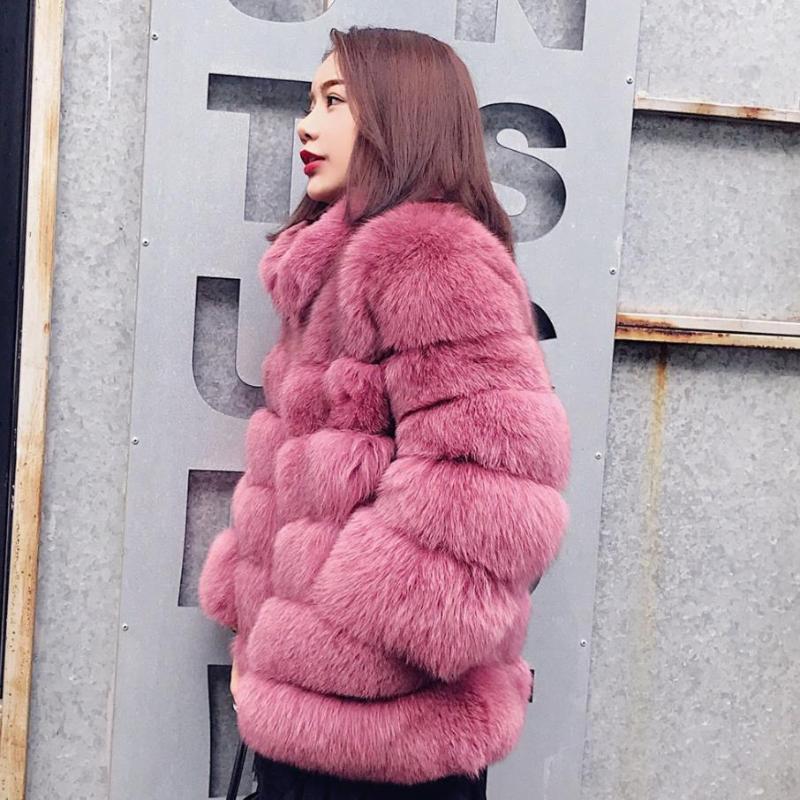 Genuo Nuovo 2020 S-3XL Plus Size Inverno nuovo modo di marca falsi rivestimento della pelliccia femminile caldo di buona qualità Riscaldare Thicker Faux Fur Coat