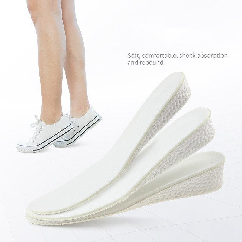 Ortesis unisex de la plantilla Ortesis Hombres Mujeres unisex pie de los cojines del amortiguador de la plantilla Altura 1.5cm 2.5cm 3.5cm Tamaño puede cortar