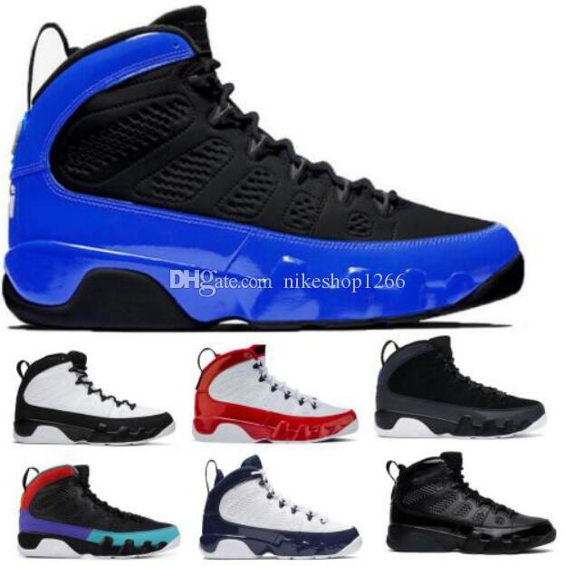 Mens Jumpman 9 9s OG Basketball-Schuh-Turnschuh-Perlen-Racer Blau Bred Patent Weiß Gym Red Dream High 2020 neue Ankunfts-Tenis Schuhe