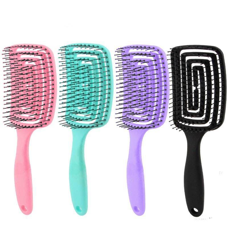 2020 Entwirren Haar-Bürste Massage-Kamm Detangler Haarbürste für lockiges Haar Frauen Männer Haar Kopfhaut-Massage Comb