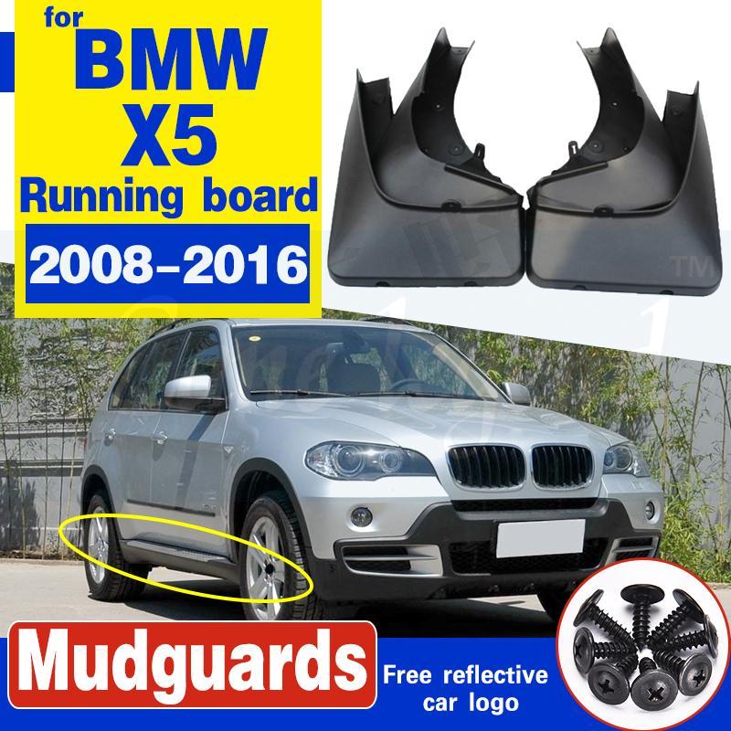Boue voiture Rabats Fender Splash Guards Mudguards bavettes pour BMW X5 2008-2016 avec marchepied Accessoires de roue de voiture avant arrière