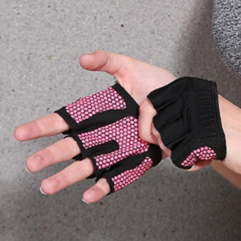 Противоскольжения Мужчины Женщины Гимнастика Йога перчатки дышащий Бодибилдинг упражнения Обучение Спорт Фитнес Тяжелая атлетика перчатки