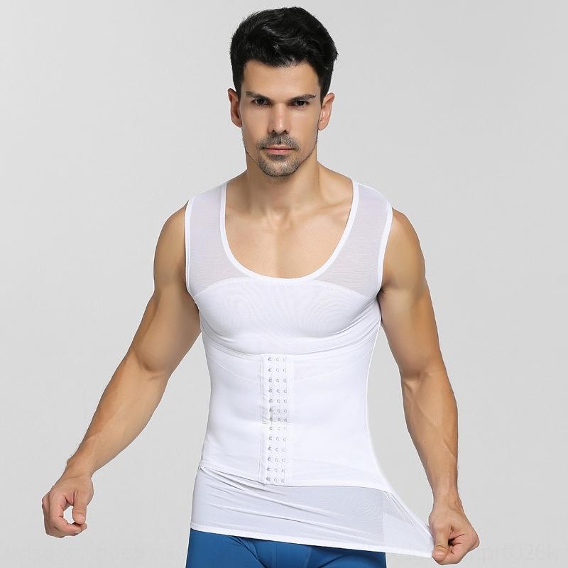 vientre invisible ropa shapewearbody de jJFui Nuevos hombres conformación frontbelly pecho cintura shapewearvest chaleco de la conformación de Fajas delgada libre en verano