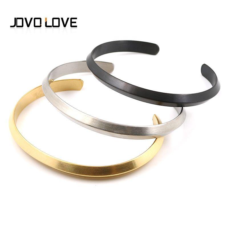 JOVO 3 Stil Biker Erkekler Bilezikler Paslanmaz Çelik Yüksek Lehçe Açık Manşet Bilezikler Erkekler Boy Doğum Hediye Takı için