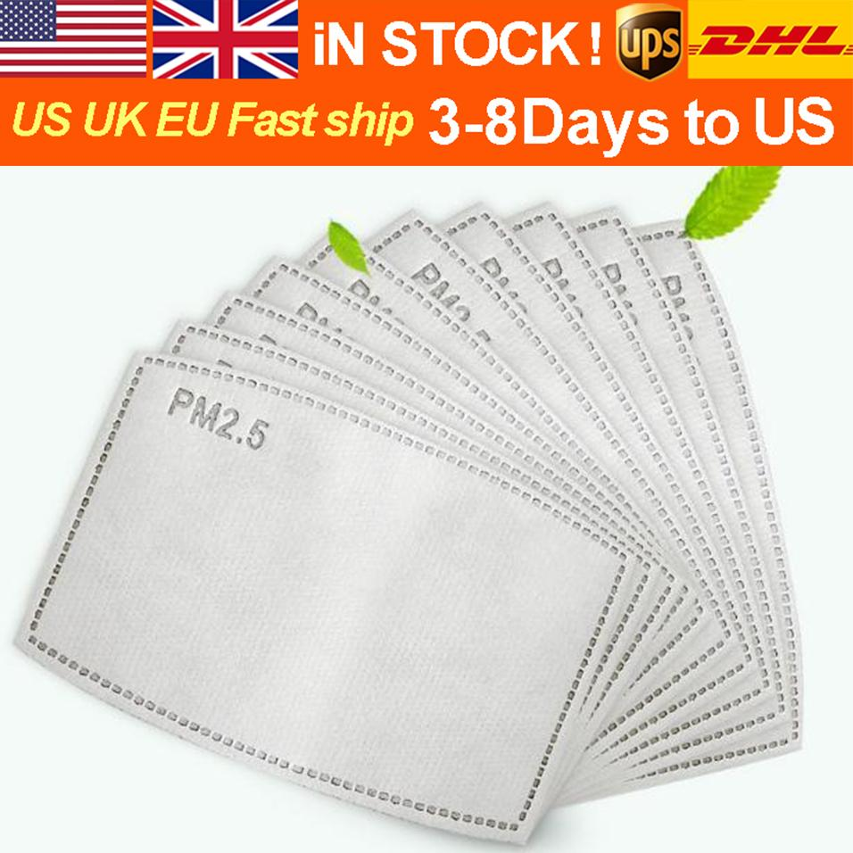 DHL Free Shipping PM2.5 Filter 5 Layers Non-Woven Activated Carbon Pad for Mask Anti-Haze Mask Pad Replaceable Filter-Slice