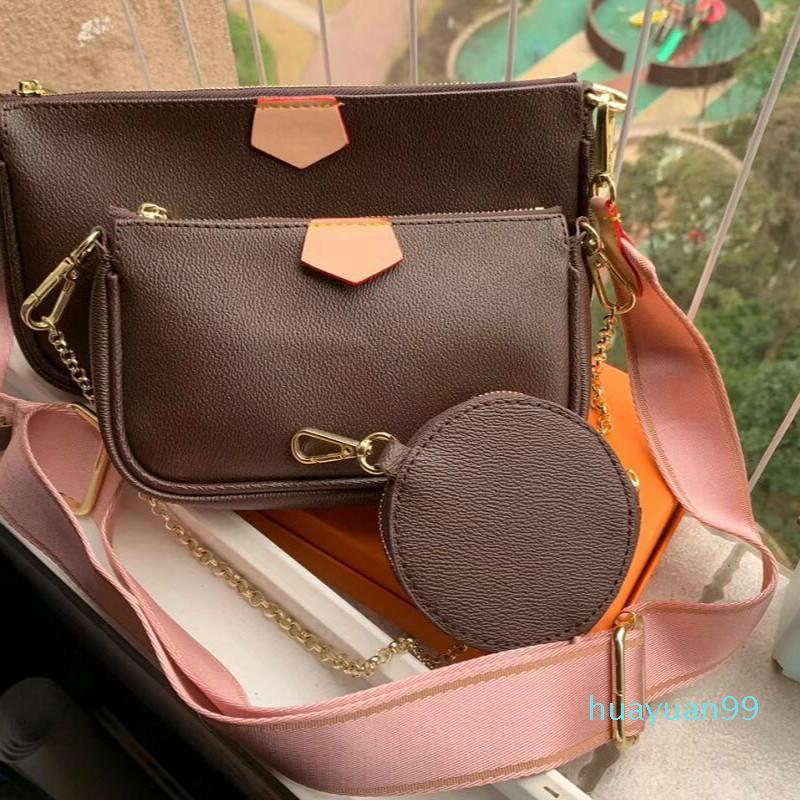 Nuovo-Designer Multi Pochette donne della borsa 3set pezzi della borsa del sacchetto di spalla crossbody libera la nave
