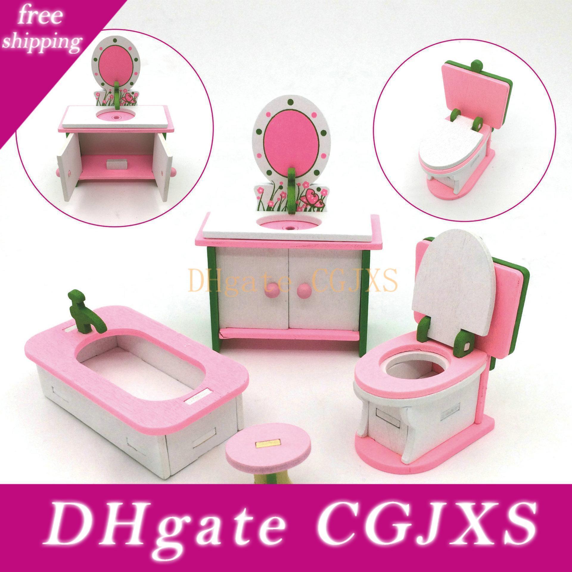 2019 vendite calde Diy Casa delle bambole Mobili Sogno Angelo miniatura Famiglie Dollhouse Giocattoli per bambini Casa di trasporto