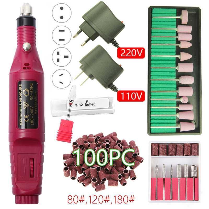 20000 RPM trivello elettrico Manicure macchina Drill macchina Ceramic Nail Bit Strumenti Manicure Pedicure accessorio arte