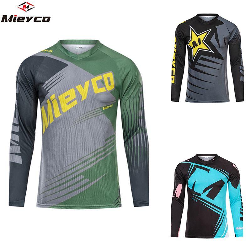 Mieyco Downhill Trikots Mountain Bike DH Men Shirt Racing Sport Wear Radtrikot Bicicleta Langarm-Frühlings-Frauen-Hemd