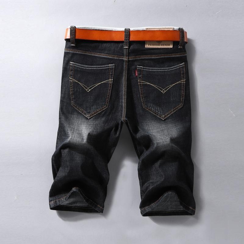 jMLNv Verão 2020 nova casuais e jeans casual calças jeans calças curtas homens heterossexuais magro calças dos homens de negócios na moda azul