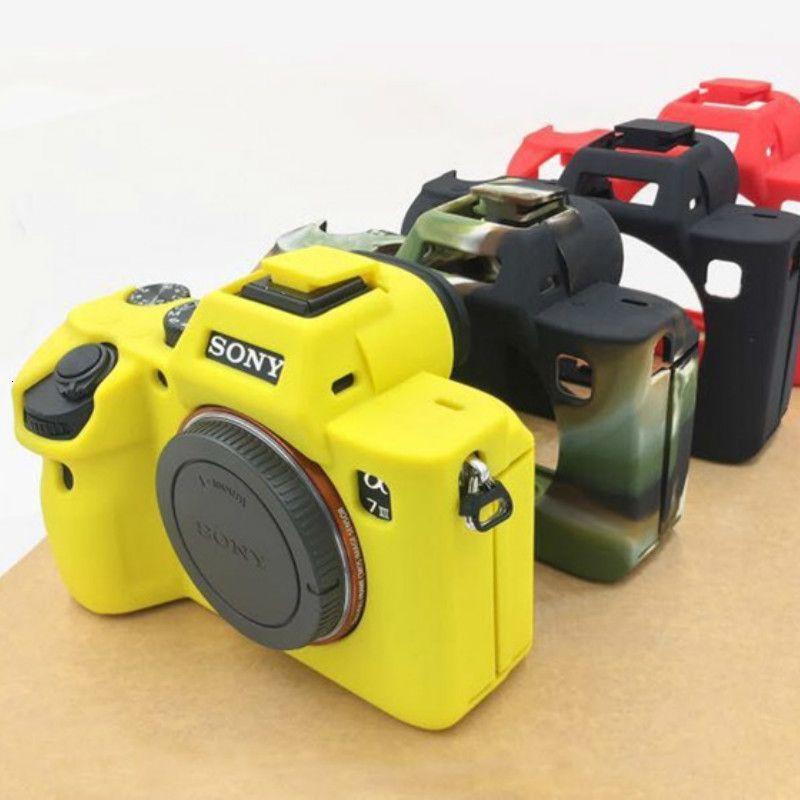 Camera Bag en silicone souple en caoutchouc du corps de cas Housse de protection pour la peau marque Sony A9 A7R3 3 A7 III A7R4 A7R IV