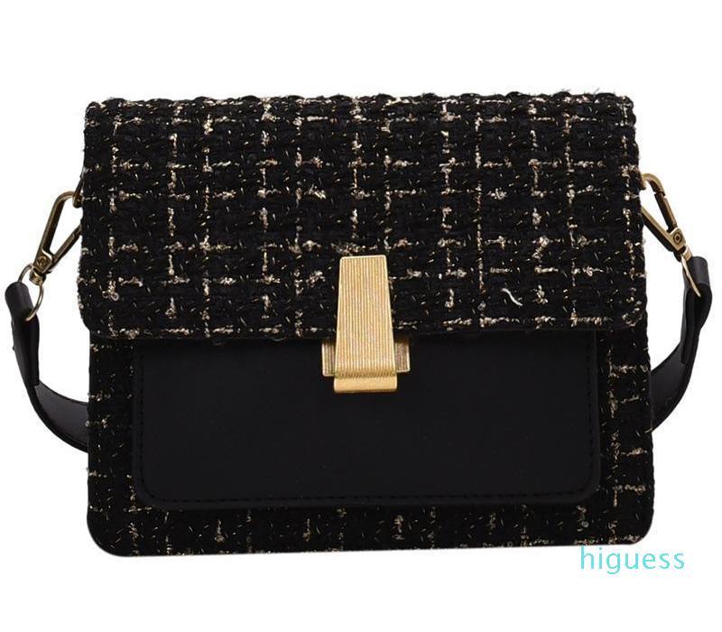 Сумки квадратный шерстяной маленький дизайнер - мода сумка сумки на плечо женщины стиль crossbody корейский abdif