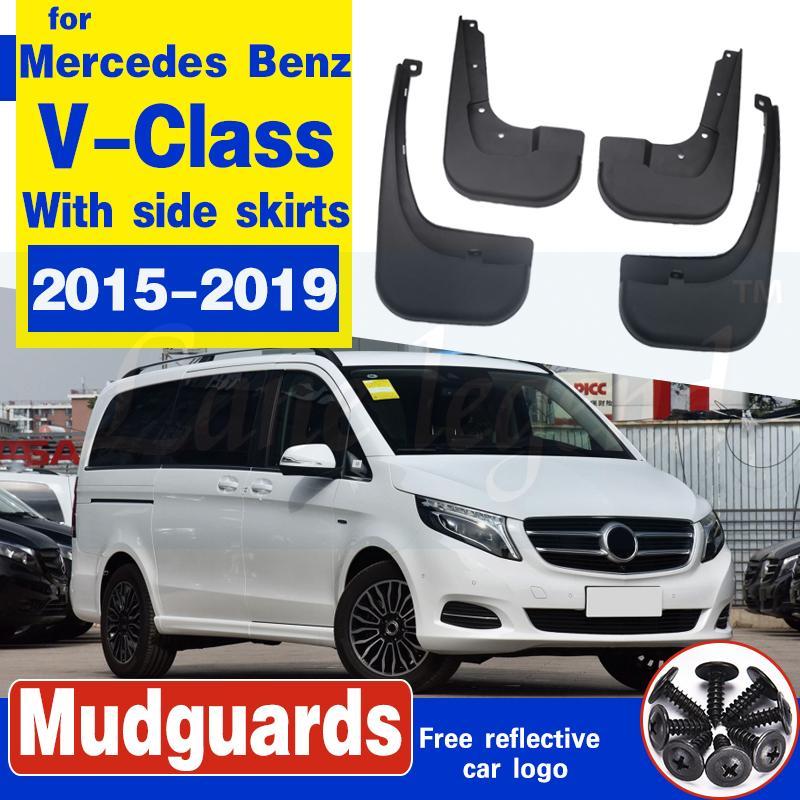 Bavette pour Mercedes Benz V - Classe 2015 ~ 2019 W447 Avec du côté Fender Mud Splash Guard Flap Accessoires Garde-boue