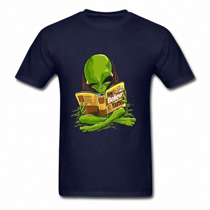 Как поверить в себя чужеродную с коротким рукавом футболка Подросткового Basic Style Рубашками 100% хлопок шеи мужской майки Для группы kkce #