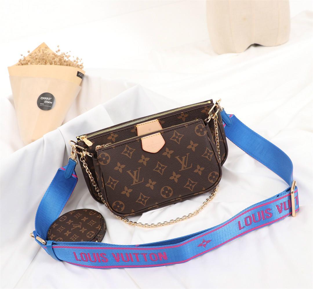 Frauen echte Damen Schultertasche Leder Handtasche Geldbeutel 3 PC Geldbeutel 13 HOT 2020