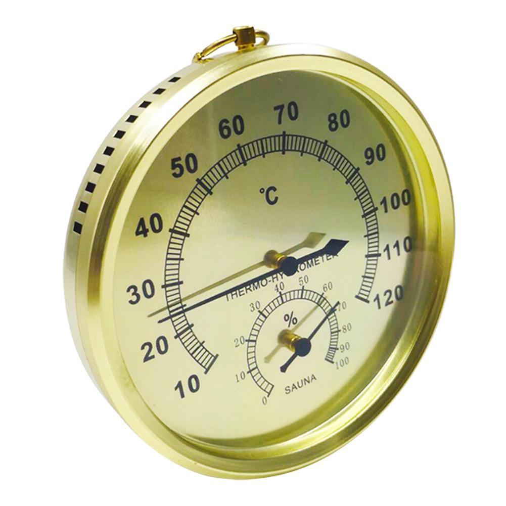 Закрытый Открытый алюминиевый сплав влажности гигрометр термометр Сауна Аксессуары