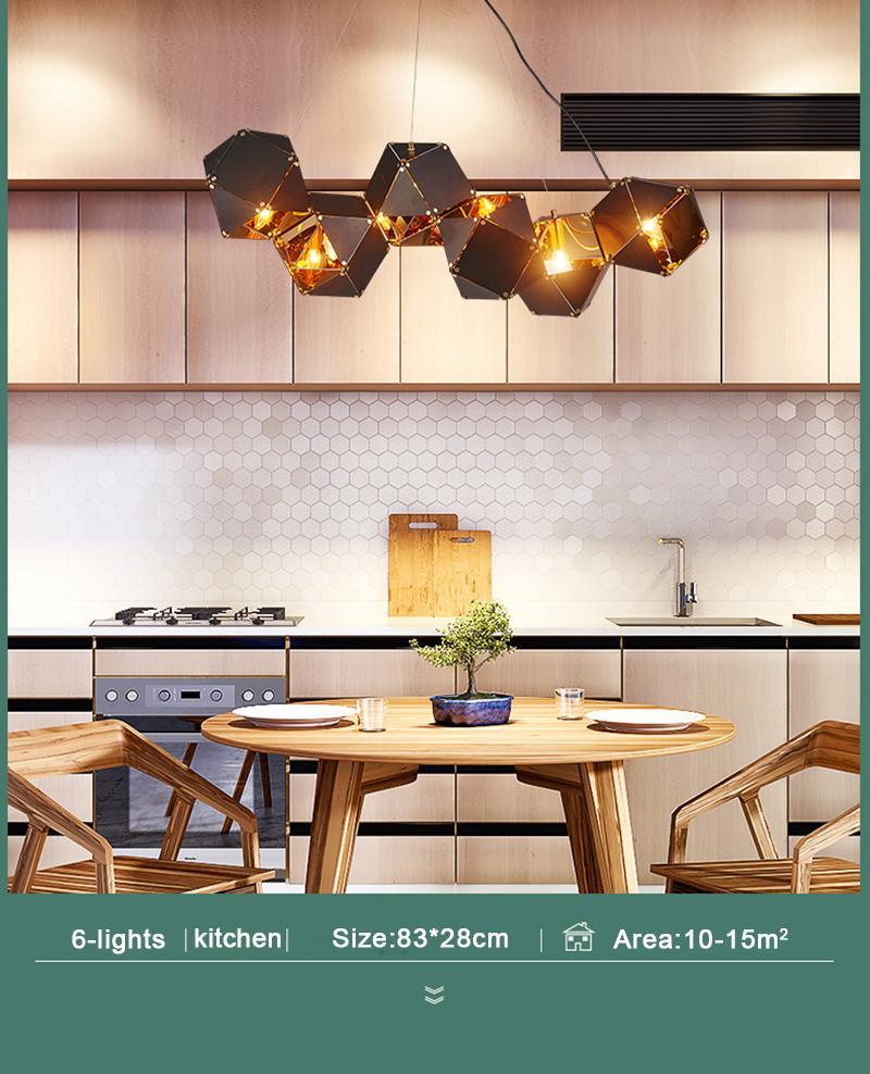 Moderna de metal creativo pendiente de la luz de la sala de estar comedor Habitación Diseño circular lámparas colgantes decoración del hogar Iluminación