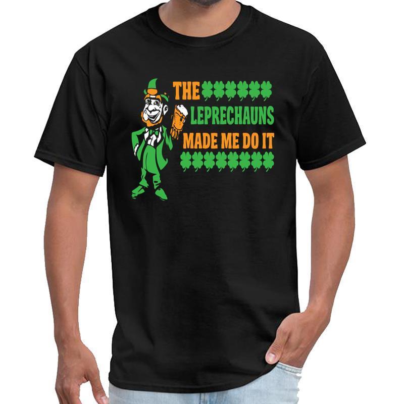 dia aptidão St Patricks - A camisa dos homens camisa rhude t Leprechauns me fez fazer isso satanás padrão XXXL 4XL 5XL