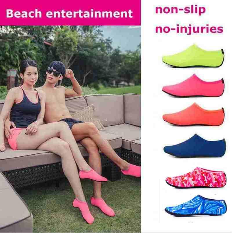 Beach Water Sports Scuba Diving Socks 8 Colors Swimming Snorkeling Non-slip Seaside Beach Shoes Breathable Surfing Socks Sand Play FY4202