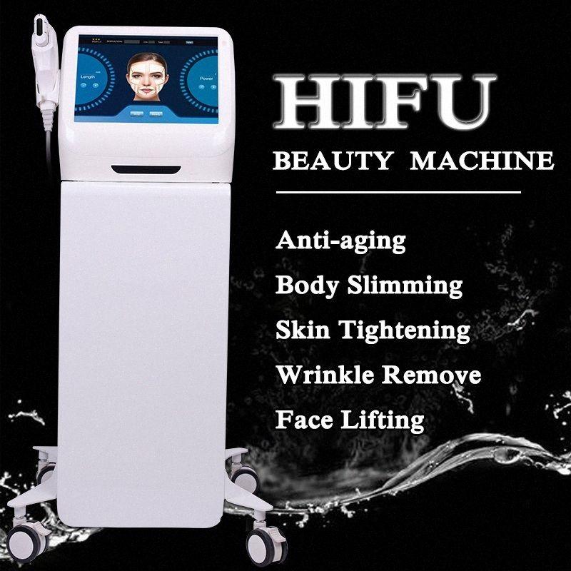 High Intensity Focused Ultrasound portátil HIFU Anti Aging rugas Redução Medical HIFU corpo emagrecimento beleza máquina 9hgE #