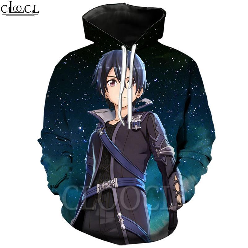 CLOOCL Sword Art Online Hoodie 3D печати Смешные Hooded Coat Толстовка Мужская одежда с длинным рукавом Мужская Горячий продавать Пары Пуловеры