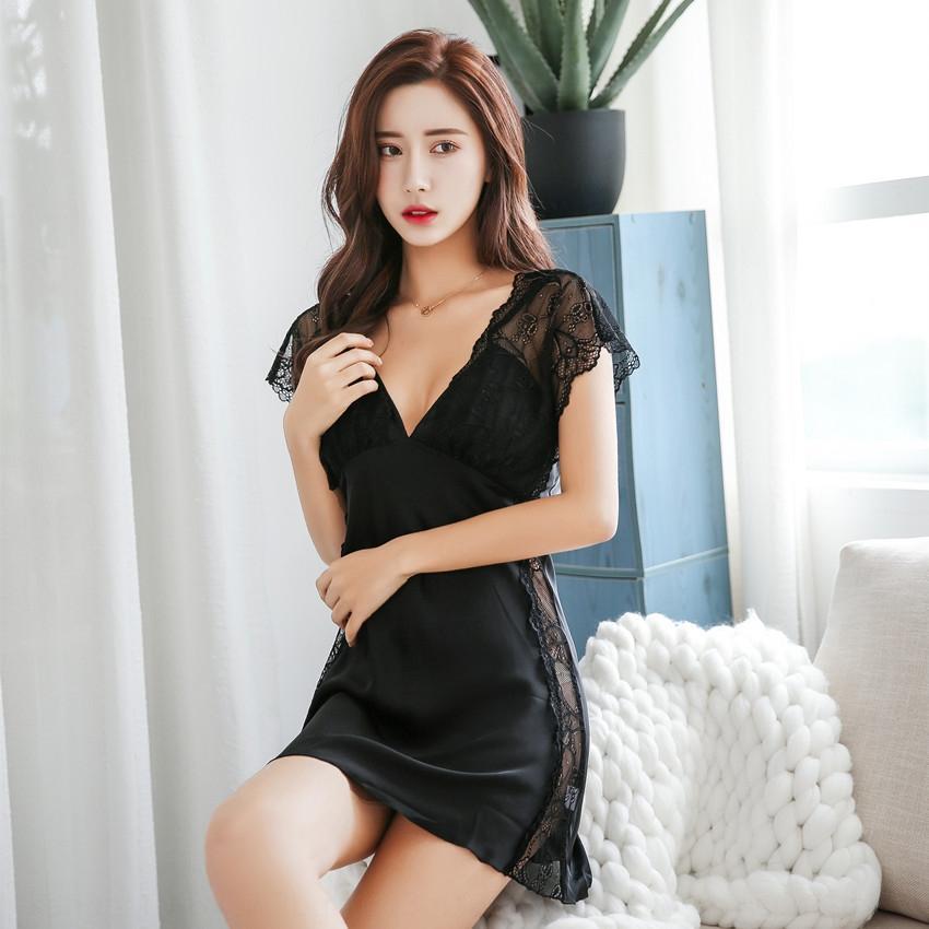 NYkiw Sexy Pyjamas sexy Sling Homewear Startseite Frauen Kleidung Pyjamas erwachsene Unterwäsche Straps Nachthemd Netz