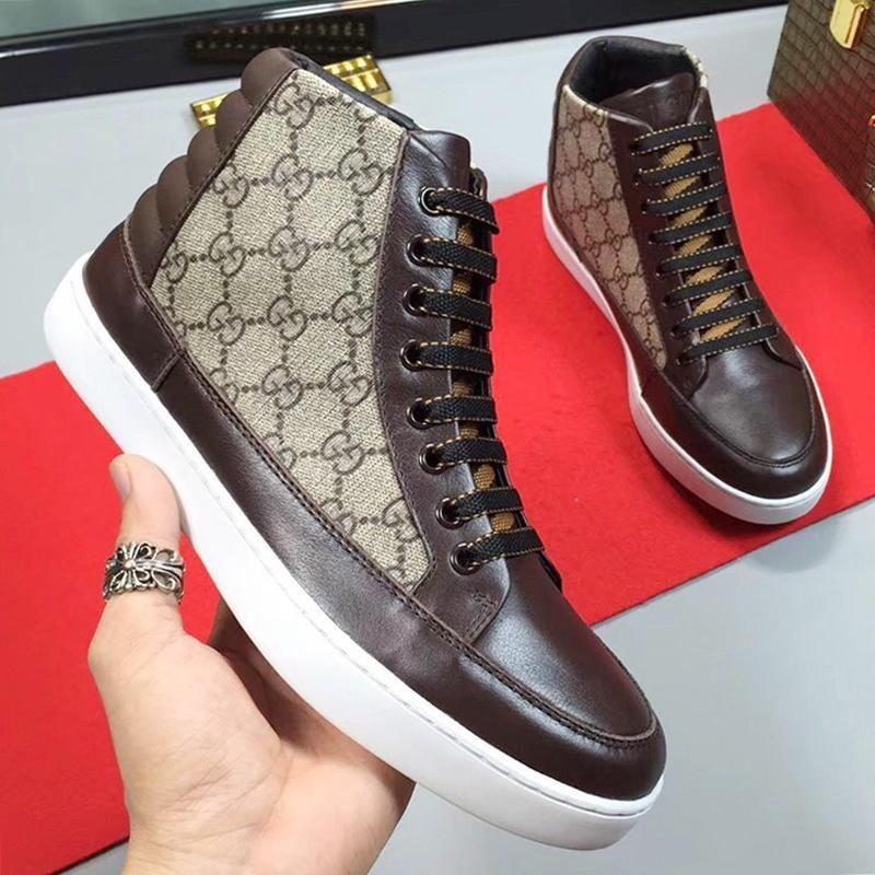 Hafif Erkekler '; S Yüksek Top Sneaker Casual Erkek Çizme Açık Yürüyüş Footwears Dantel -Up Artı boyutu Erkekler Ayakkabı Rahat Vintage Sneake