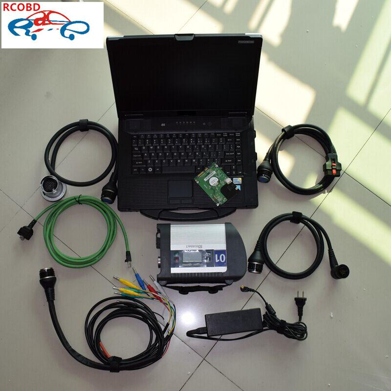 mb star c4 sd connect toughbook cf52 laptop 2020.06 newest full set diagnosis for cars and trucks ready to use