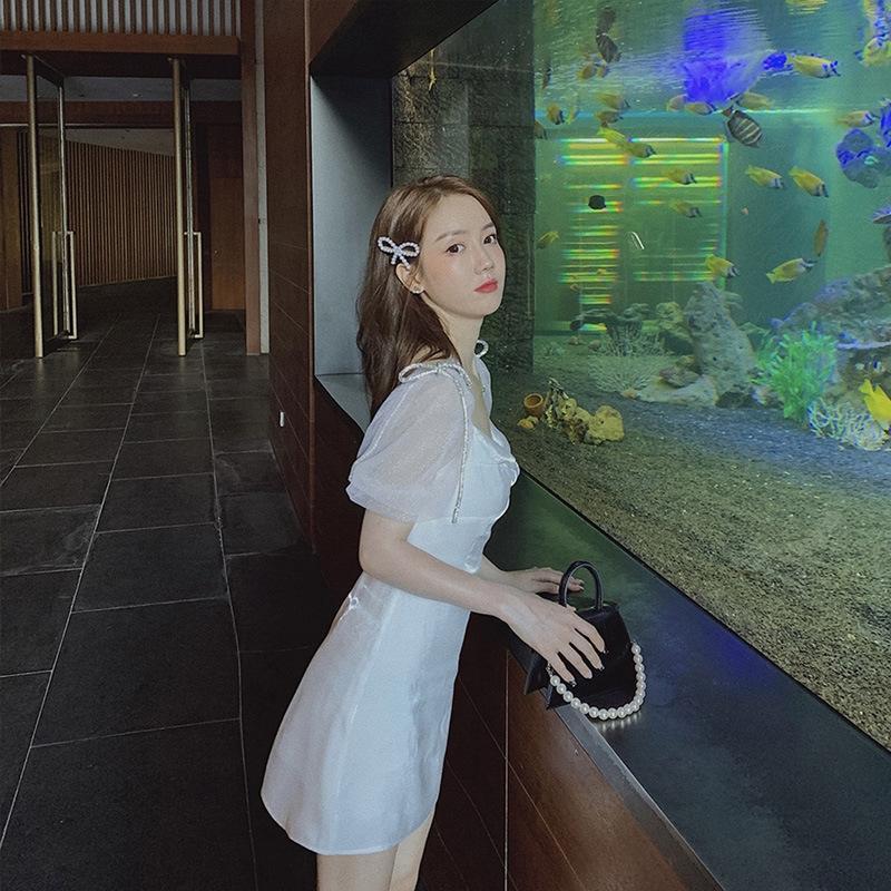 de style de robe douce douce 2020 bulle arc robe d'été blanche première fée d'amour nouveau chic, papillon XI7Uk