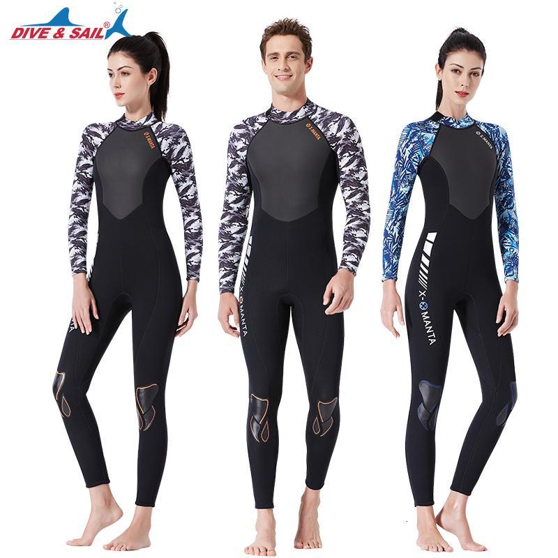 di Donna Torna Full Zip Muta da sub 3mm uomo Premium neoprene manica lunga termica Protezione Surf Sub costumi da bagno Snorkel