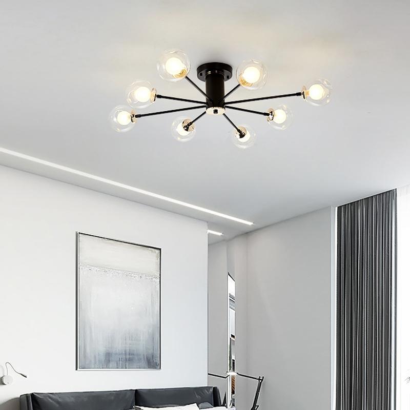 Wohnzimmer Deckenleuchten im nordischen Stil kreative Persönlichkeit Schwarz-Weiß-Haus Wohnzimmer Schlafzimmer Arbeitszimmer Eisen Deckenleuchte