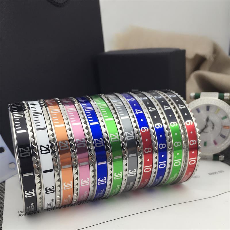 Velocímetro bangles estilo misto de aço inoxidável pulseira manchette pulseira aberta manguito inicial pulseira de Amor velocímetro Pulseira com caixa