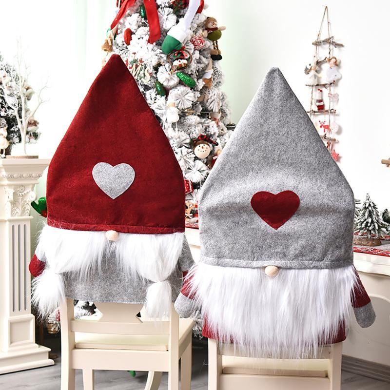 Рождественский стул Обложка Санта-Клаус украшения Главная Стол Стул Обложки Рождество Главная партия Декор Обложка должна иметь семью