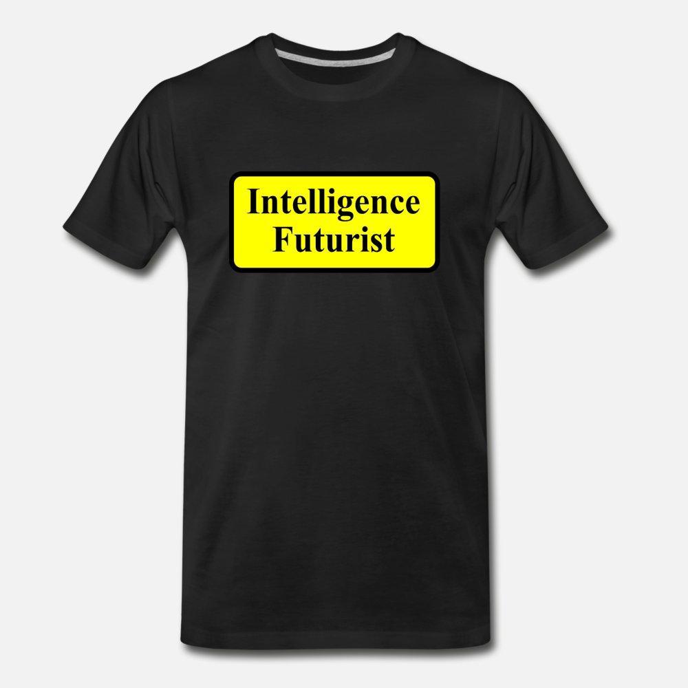 Diseño Inteligencia futuristas hombres de la camiseta de punto camiseta más el tamaño 3XL color sólido anti-arrugas cómodo camisa del estilo del verano de Kawaii
