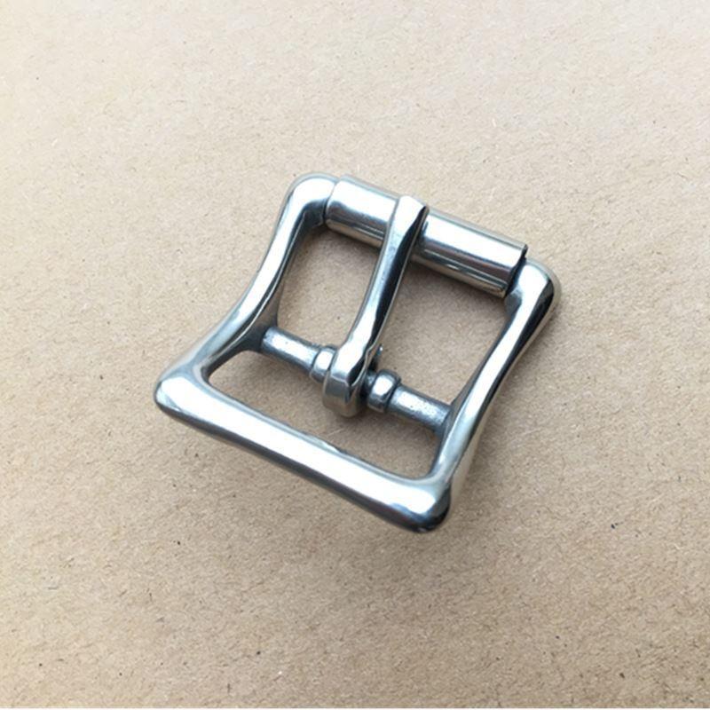 2OSSJ Edelstahl Einzelgest metalclothing Leder Hardware Stainless Gepäckband Stahl beltsingle gestrickten Band metalclothing lugga