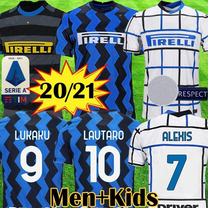 2020 2021 ERIKSEN LUKAKU LAUTARO Inter home away Milan soccer jerseys BARELLA 20 21 football top shirt Men Kids Kits sets uniform