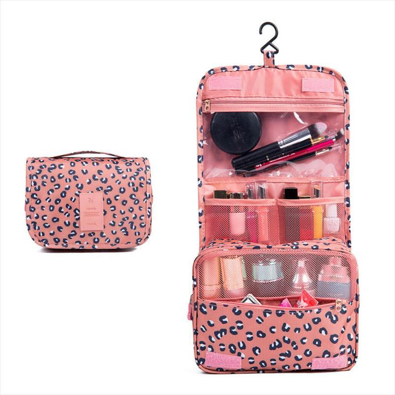Waterproof Travel Large Capacity Cosmetic Bag Neceser Portable Hook Washing Bag Fashion Travel Bag Storage Make up Cases