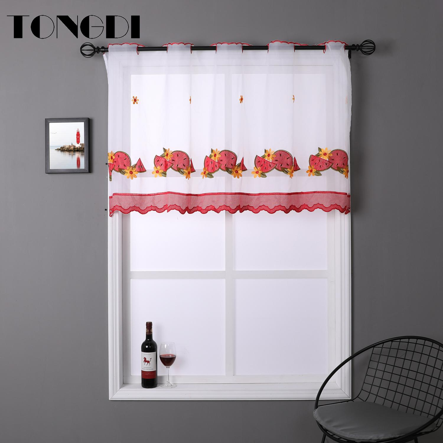 Tongdi Kitchen Curtain Valance Sheer Curtains Tiers Pastorall Fruit Cafe Tulle Beautiful Of Kitchen Dining Y200421 Ivory Sheer Curtains Light Blue Sheer Curtains From Highqualit06 17 84 Dhgate Com