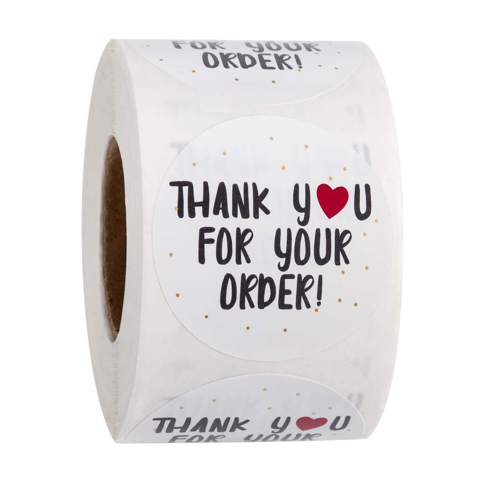 13 Estilo 500 unids Gracias por compras Gracias por apoyar a My Business Kraft Pegatinas con papel de lámina dorada Etiquetas de etiquetas redondas