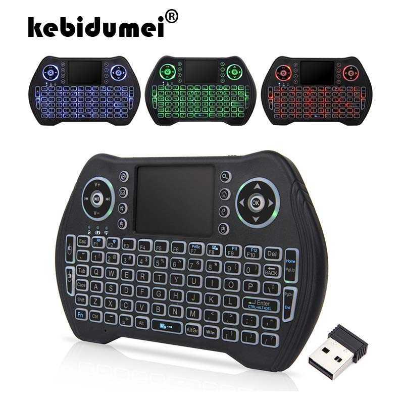 Portable 2.4G mini tastiera ad alta tenuta in mano sensibile intelligente Touchpad della tastiera del mouse dell'aria per Android Smart TV Set-Top Box PK i8