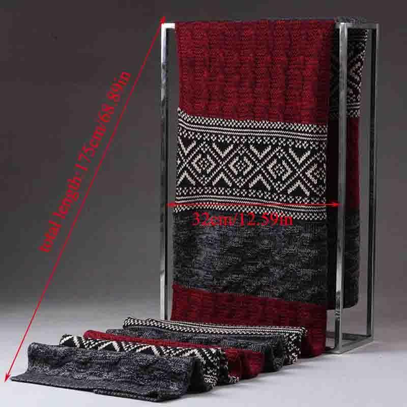 Fashion Casual scialli Wrap Twist coppia Sciarpa spessore caldo multicolore Patchwork Sciarpa lunga maglia di lana cachemire Sciarpe Sciarpa