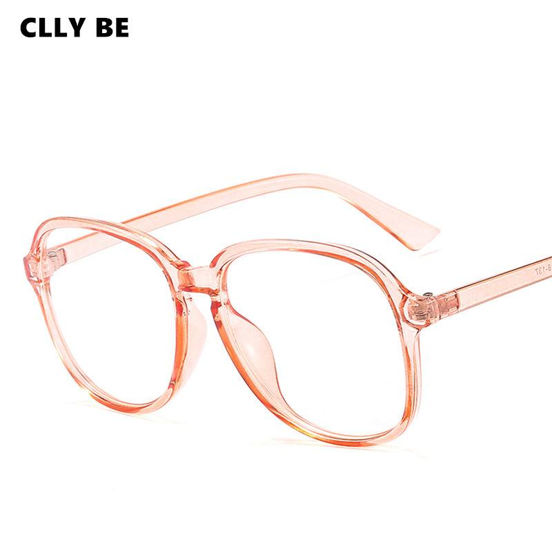 Retro Fashion Vintage Candy Color Glasses Frame Women Clear Lens Eyewear Glass Frame Attractive Party Selfie Pose Soild Glasses