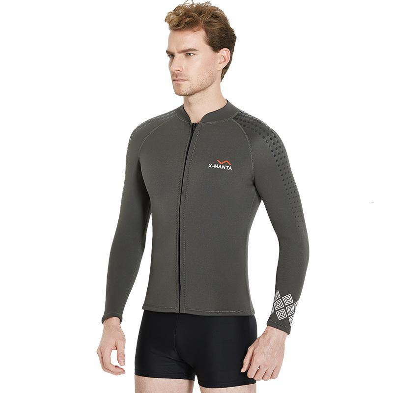 Men's 3mm Wetsuits Jacket Long Sleeve Neoprene Wetsuits Top / 1.5mm Wetsuit Pants Snorkeling Scuba Surf Canoe Diving Suits Man