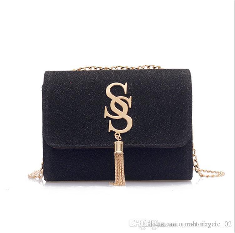 borse donne Catena Mini Flap borse del progettista borse SS semplice spalla casuale Basg Borsello Totes Messenger Bag