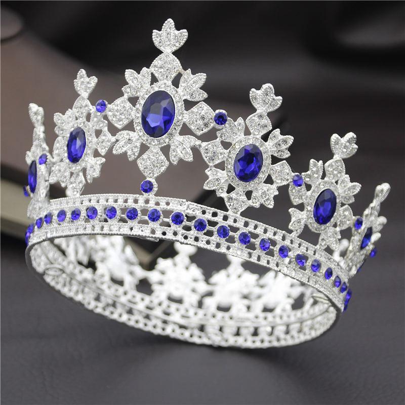 Moda Real la reina del rey de novia Tiara coronas para Y200807 joyas princesa Diadema novia Prom Party pelo de la corona adornos de pelo de la boda