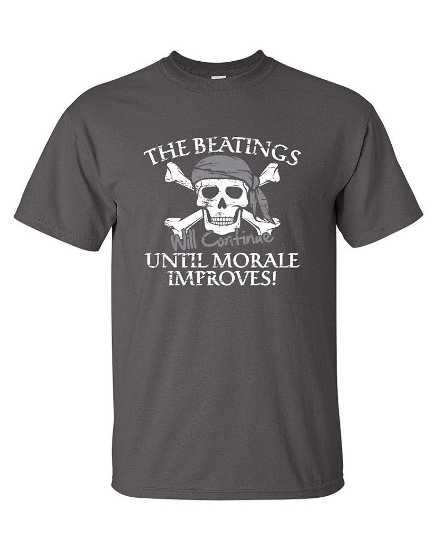 2019 Nouveau été T-shirt décontracté Le passage à tabac continueront jusqu'à ce que Moral améliore Novelty T-shirt