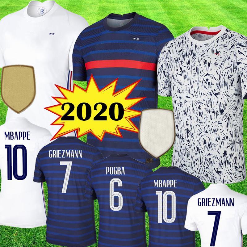 france 2020 UEFA EURO camisetas de fútbol MBAPPE 100th aniversario 100 años maillot GRIEZMANN POGBA Camisetas de fútbol LEMAR Equipe 2019 kit tops